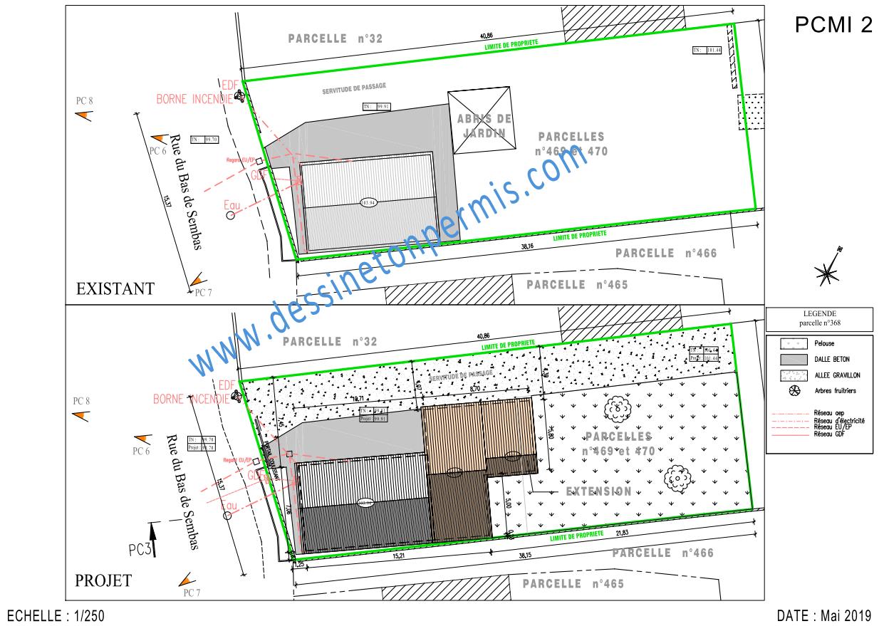 Plan de masse pcmi2 dessine ton permis - Plan de masse maison individuelle ...